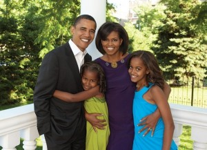 President Barack Obama and the first family!