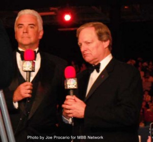 John O'Hurley and David Frei Hosting the National Dog Show Presented by Purina