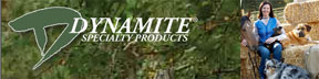 Check out Dynamite Products for your pet!